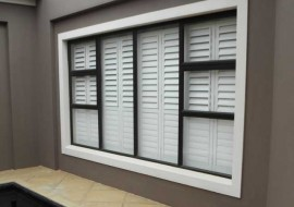 Aluminium Shutters Window From Outside